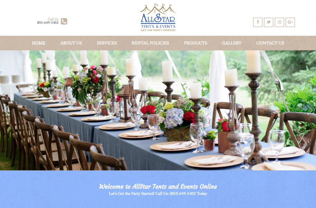 Wondrous Website Redesign Allstar Tents Events Alive Media Ibusinesslaw Wood Chair Design Ideas Ibusinesslaworg